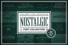 Nostalgic Font Collection [Save 95%]