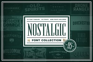 Nostalgic Font Collection [Save 95%]