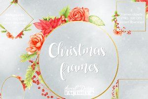 Christmas frames cliparts