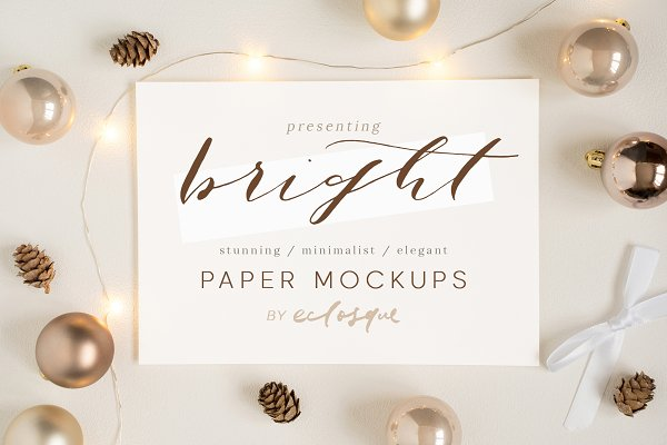 Product Mockups: Eclosque - Christmas Stationery Styled Mockups