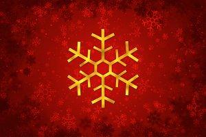 Gold Snowflake christmas decoration
