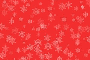 Winter Snowflakes on red