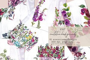 5x7 Invitation Background Set