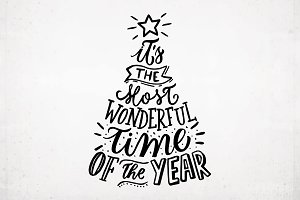Hand-lettered New Year text