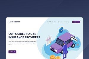 Car Insurance - Banner & Landing Pag