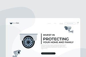CCTV - Banner & Landing Page