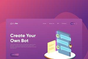ChatBot - Banner & Landing Page