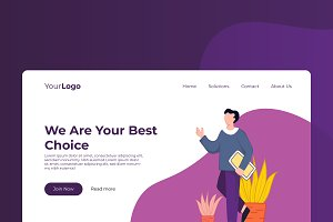 Solutions - Banner & Landing Page