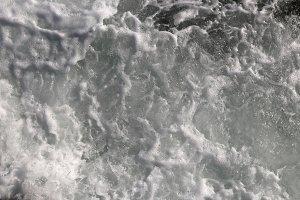 Water froth swirls backdrop