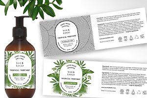 Tropical Label Template