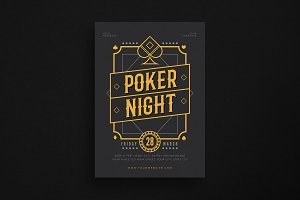 Poker Night Event Flyer