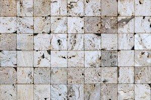 White squares masonry tiles texture.