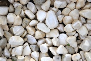White sea pebble texture