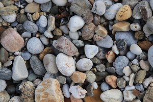 Sea pebble cobblestones texture