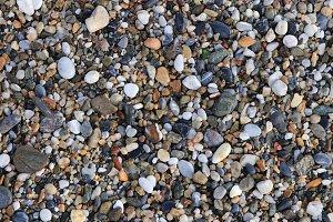 Sea stones texture