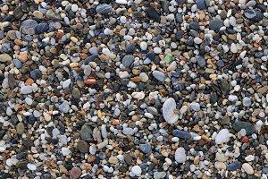 Sea pebble texture