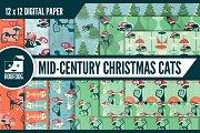 Christmas Cats Digital Paper