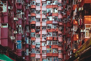 Old residential area in Hong Kong