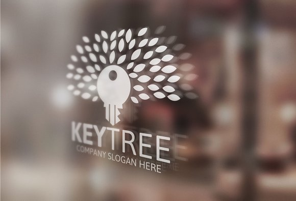Key Tree Logo in Logo Templates - product preview 1