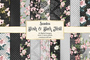 Blush and Black Floral Patterns