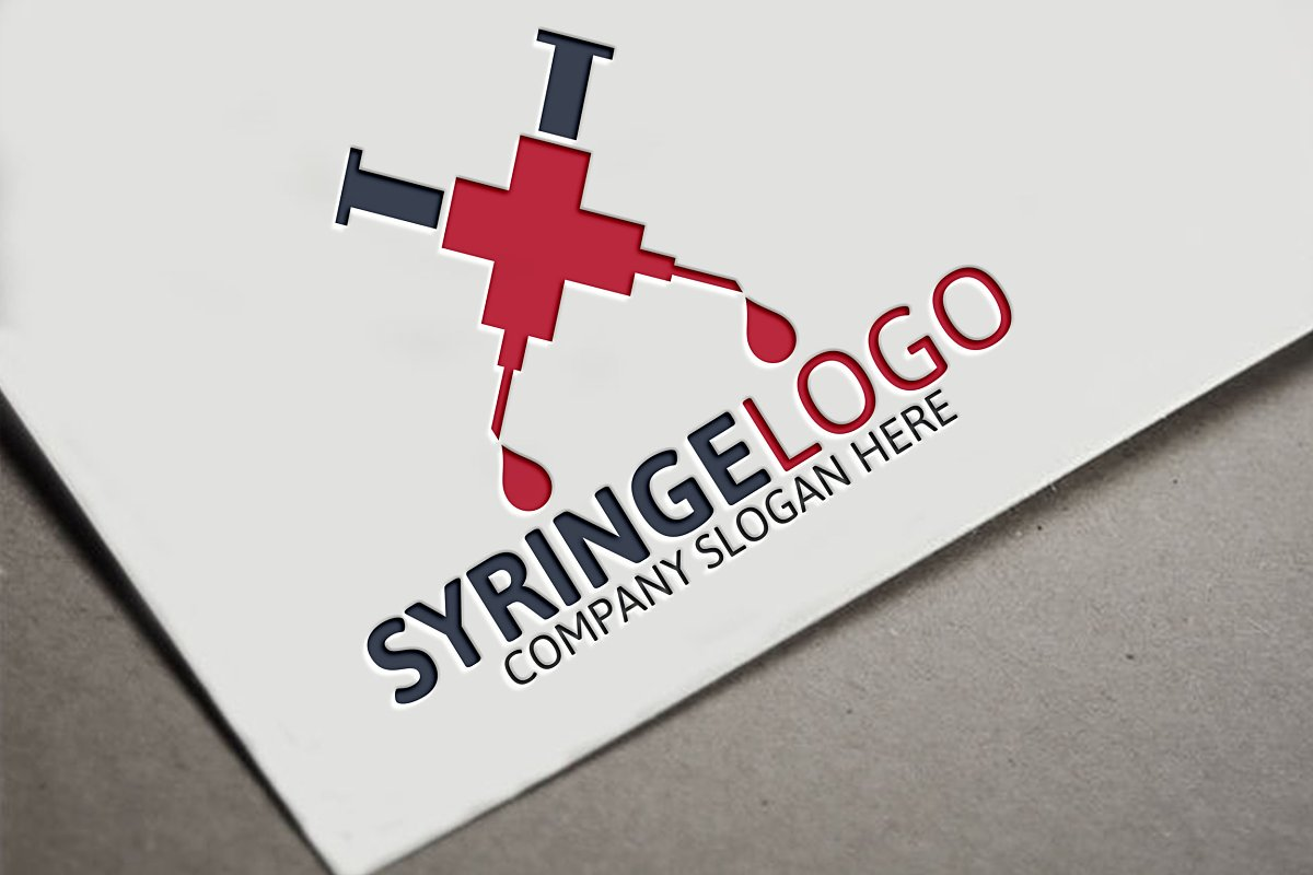 Syringe Logo in Logo Templates - product preview 8