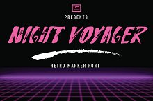 Night Voyager Marker Font by  in Display Fonts