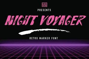 Night Voyager Marker Font