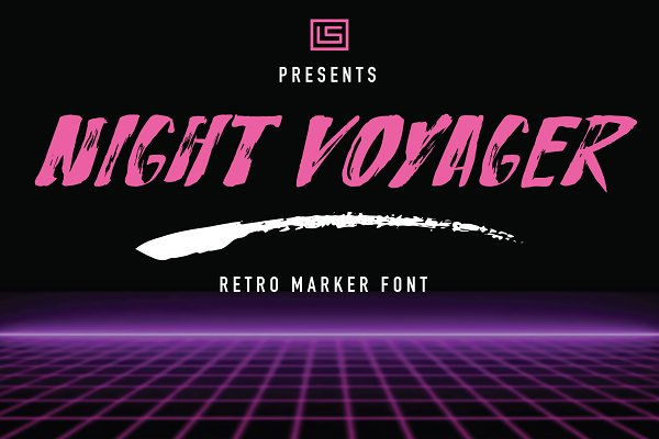 Fonts: Linseed Studio - Night Voyager Marker Font