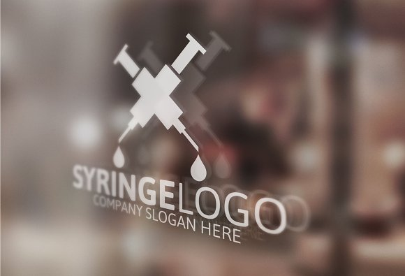 Syringe Logo in Logo Templates - product preview 2