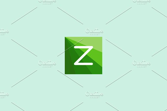 Abstract letter Z logo design