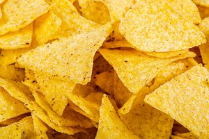 tortilla chips as a texture and back