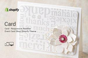 Card Responsive Shopify Theme