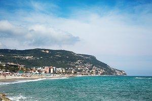 Beautiful scenic view on coast and b