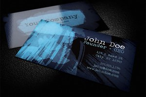 Dark Watercolor Business Card