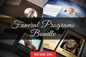 Funeral Programs Bundle