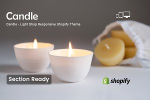Candle Section Shopify Theme