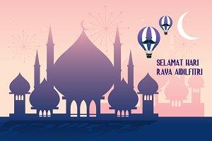 mosque/raya vector