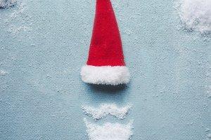 Santa Claus symbol made with snow