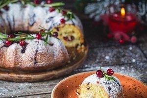 Homemade christmas cake