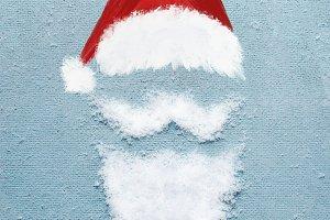 Santa portrait with snow beard