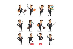 Set of Businessman in Different