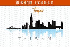 Taipei Svg Capital of Taiwan Vector