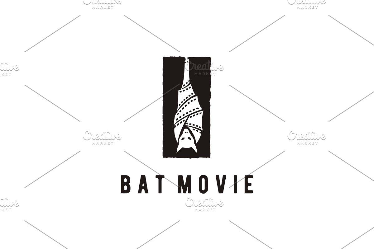 Upside Down Hanging Bat Movie Logo