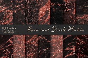 Rose and Black Marble Textures