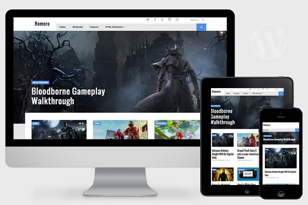 WordPress Magazine Themes: Pro Theme Design - Romero - WordPress Video Game Theme