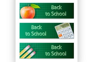 Banner set Back to School
