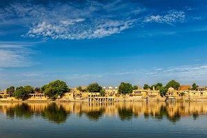 Indian landmark Gadi Sagar in