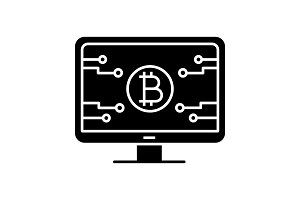 Bitcoin official webpage glyph icon