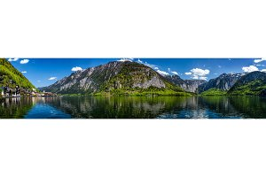 Panorama of Hallstatt village and