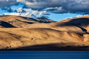 Himalayas and Lake Tso Moriri on